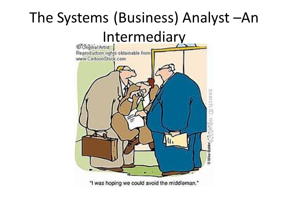 The Systems (Business) Analyst –An Intermediary