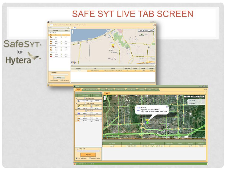 for SAFE SYT LIVE TAB SCREEN