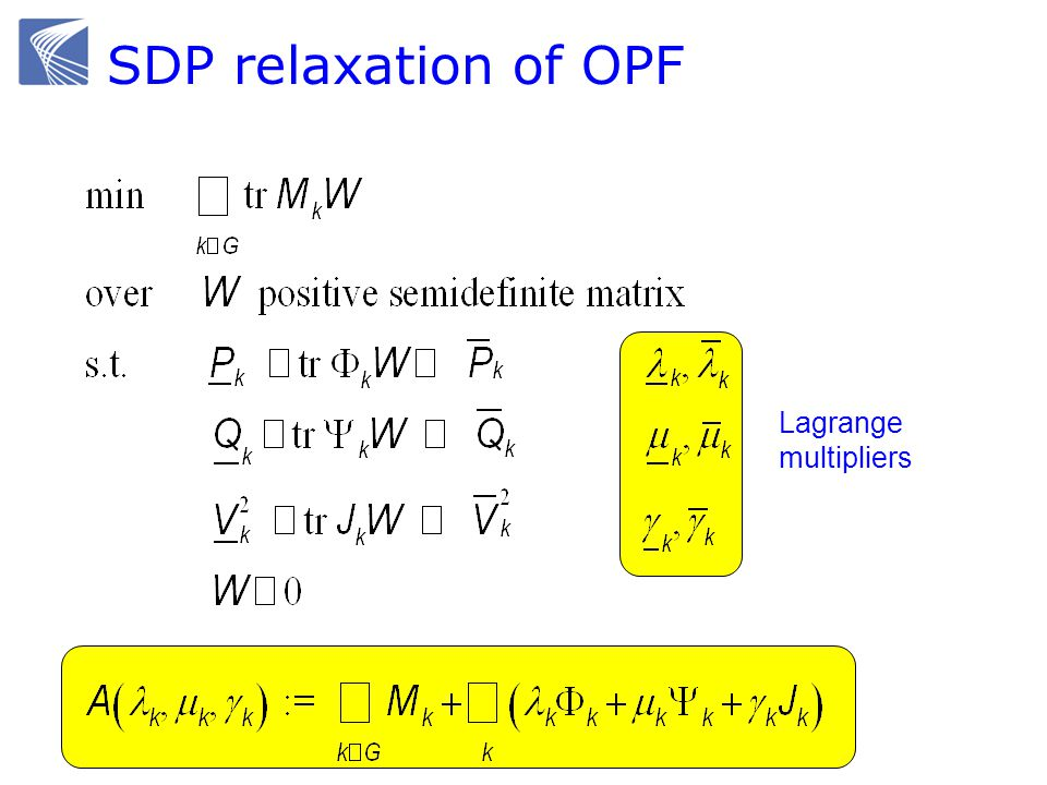 SDP relaxation of OPF Lagrange multipliers