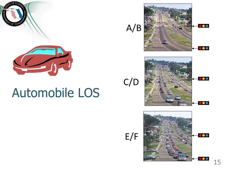 Automobile LOS A/B E/F C/D 15