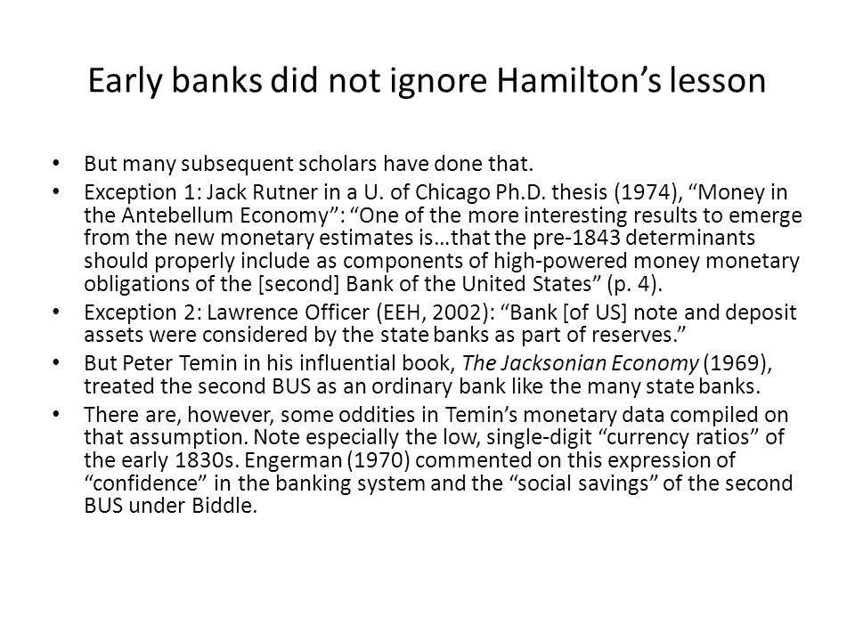 Temins Jacksonian Economy monetary data