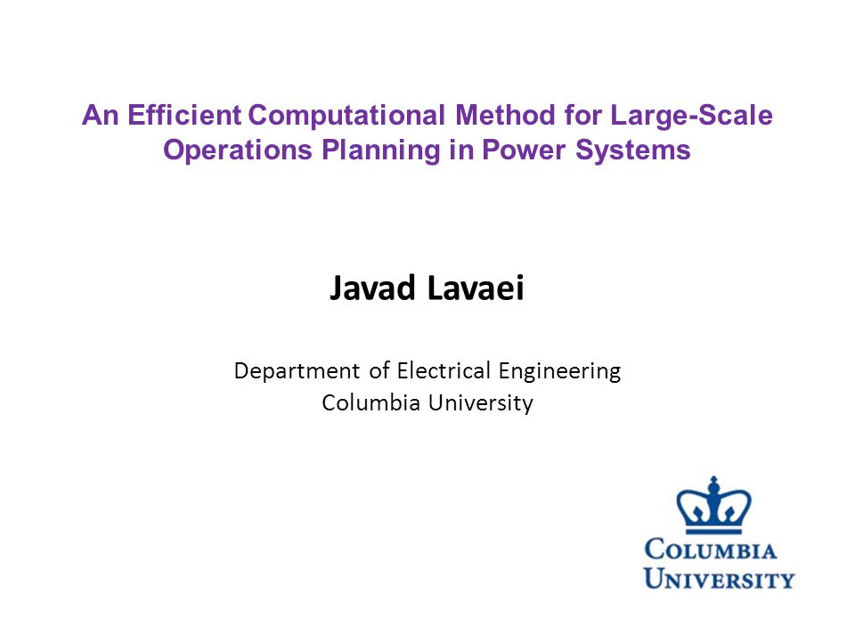 Lossless Networks Javad Lavaei, Stanford University 17 Javad Lavaei, Columbia University 22 (P1,P2)(P1,P2) (P 12,P 23,P 31 ) Lossless 3 bus Consider a lossless AC transmission network.