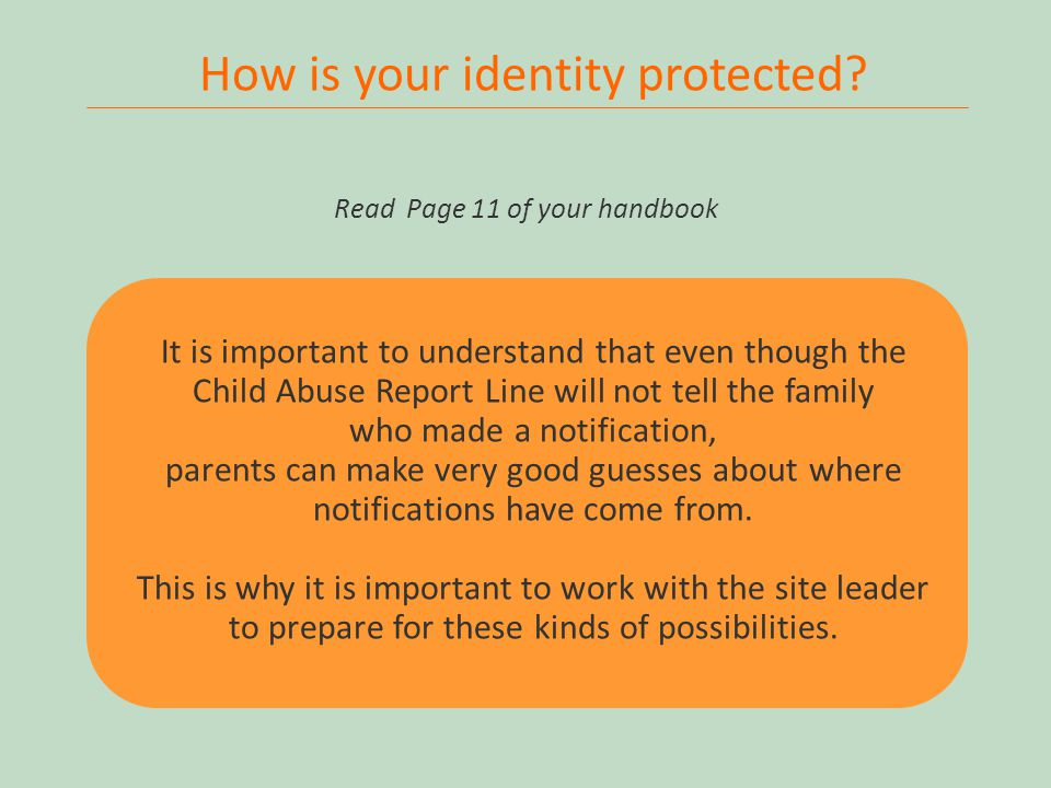 26 How is your identity protected.