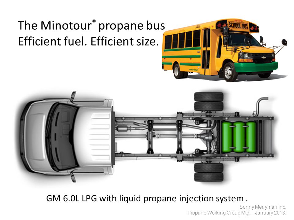 The Minotour ® propane bus Efficient fuel. Efficient size.