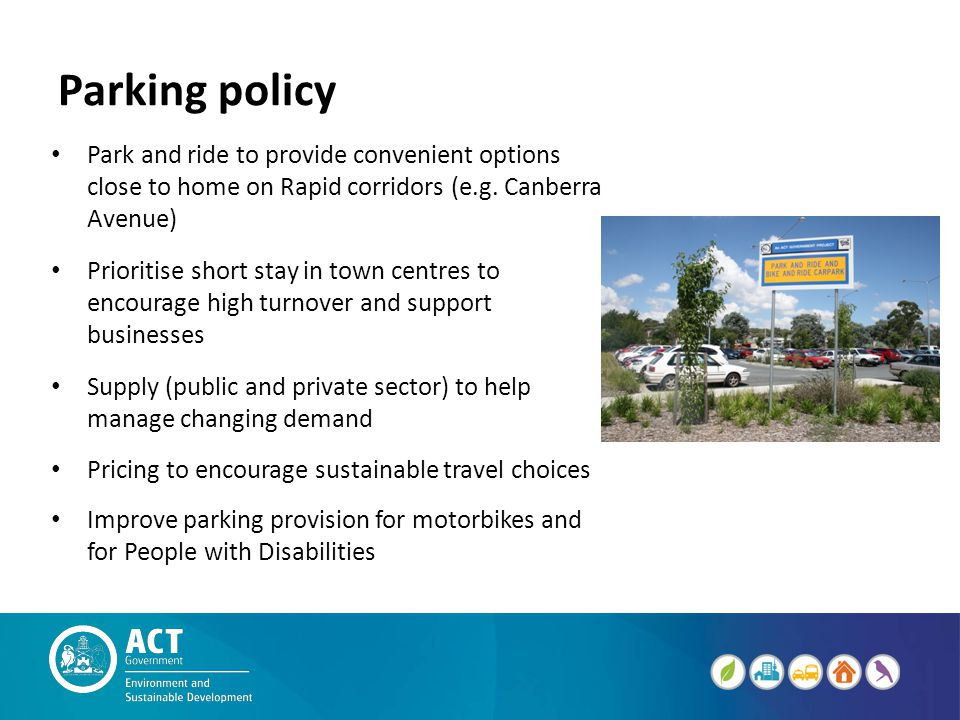 Parking policy Park and ride to provide convenient options close to home on Rapid corridors (e.g.