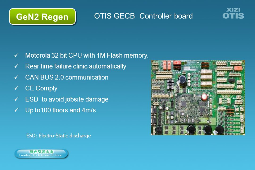 6/66 GeN2 Regen OTIS GECB Controller board Motorola 32 bit CPU with 1M Flash memory. Rear time failure clinic automatically CAN BUS 2.0 communication