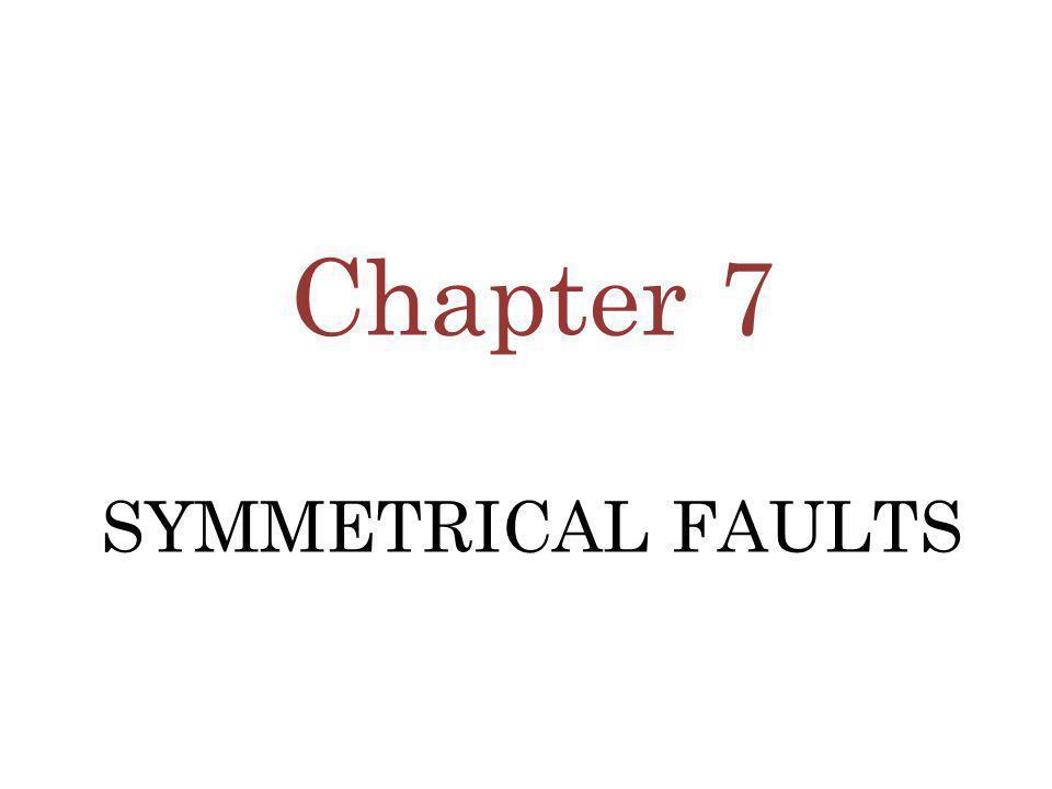 Chapter 7 SYMMETRICAL FAULTS