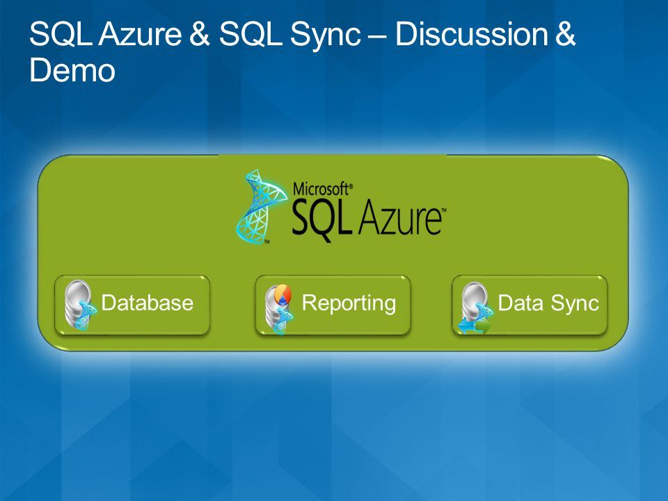 Data Sync Database Reporting