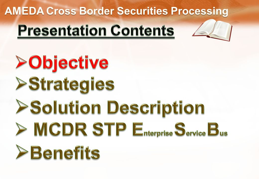 AMEDA Cross Border Securities Processing