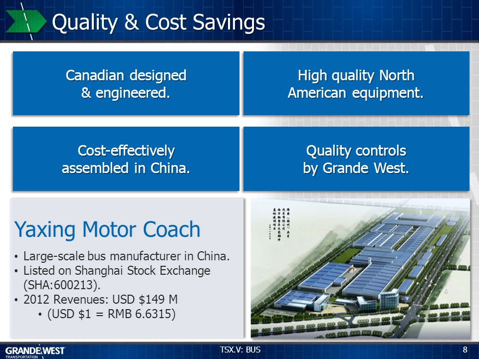 9 21 Month Beta Tour and Results TSX.V: BUS Launched February 2010 by BC Transit.