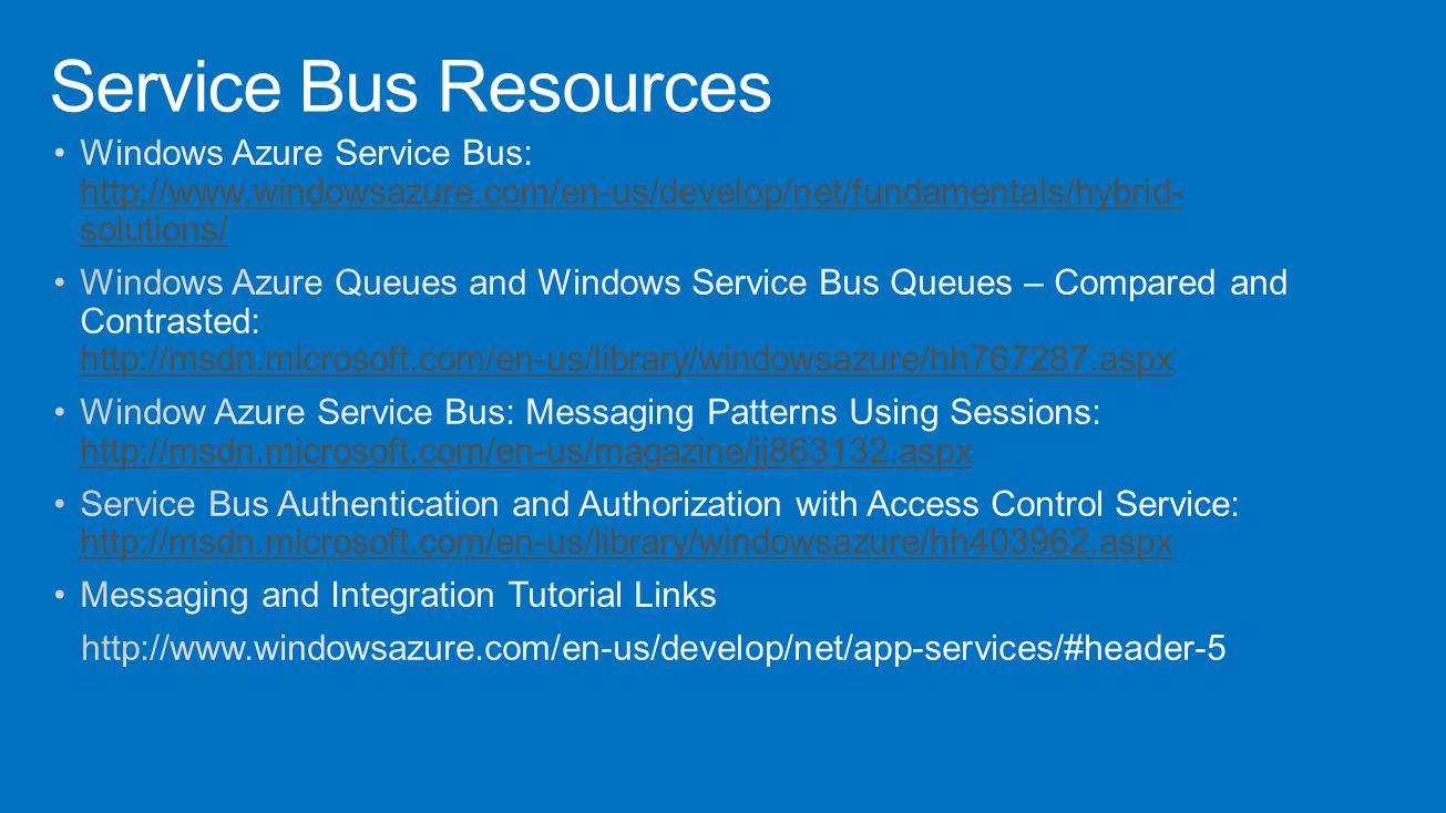 Service Bus Resources