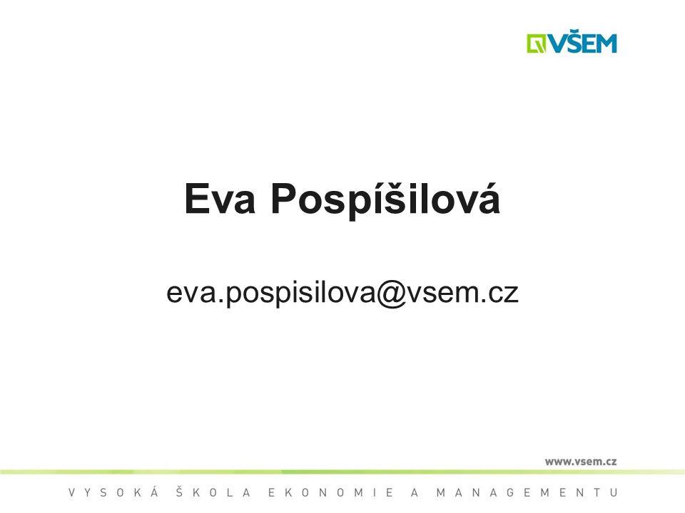 Eva Pospíšilová eva.pospisilova@vsem.cz