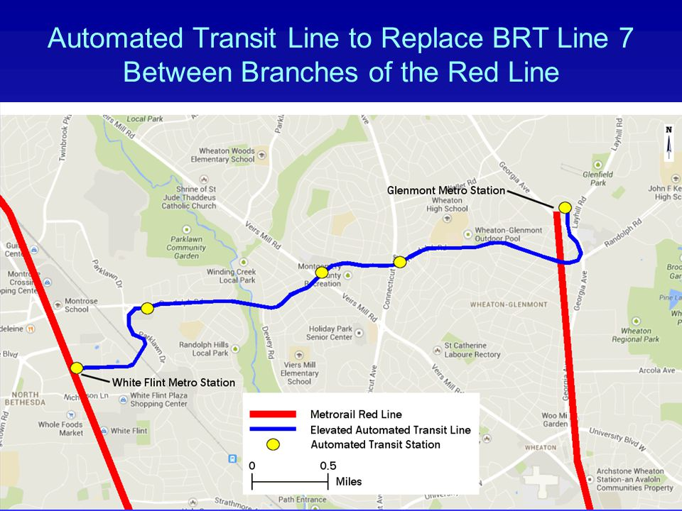 Automated Transit Line to Replace BRT Line 7 Between Branches of the Red Line www.REJConsult.com12