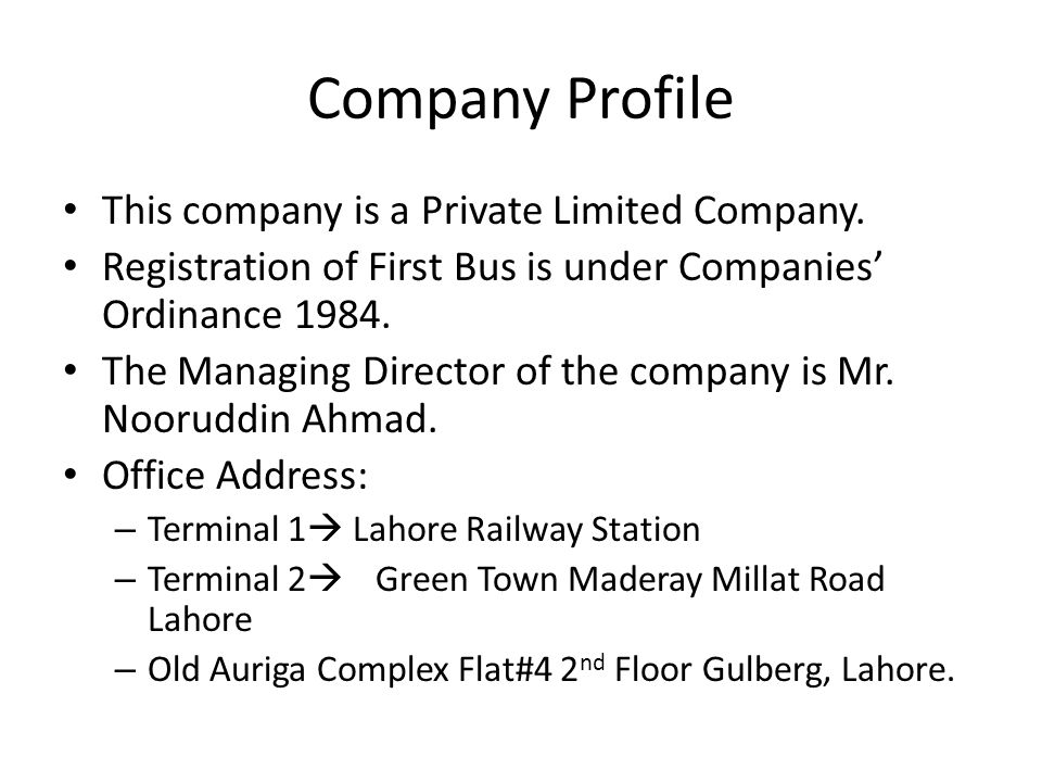 First Bus is one of the largest operating metro services in Lahore.