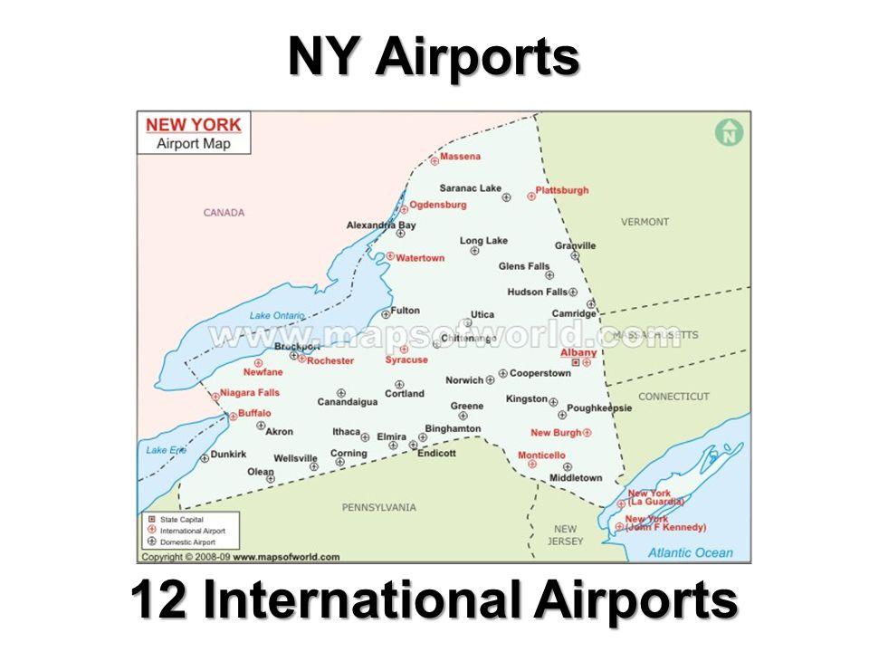 NY Airports 12 International Airports