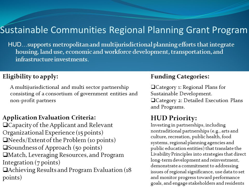 8 Eligibility to apply: A multijurisdictional and multi sector partnership consisting of a consortium of government entities and non-profit partners F