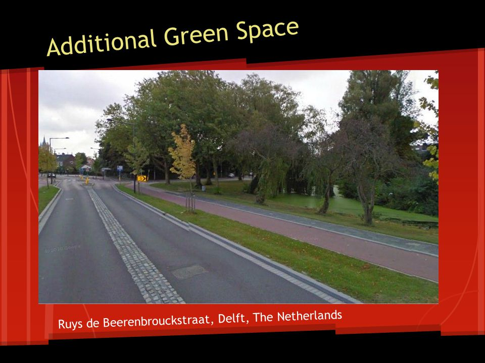 Cars/Pedestrians/Bikes at Different Roadway Elevations Ruys de Beerenbrouckstraat, Delft, The Netherlands