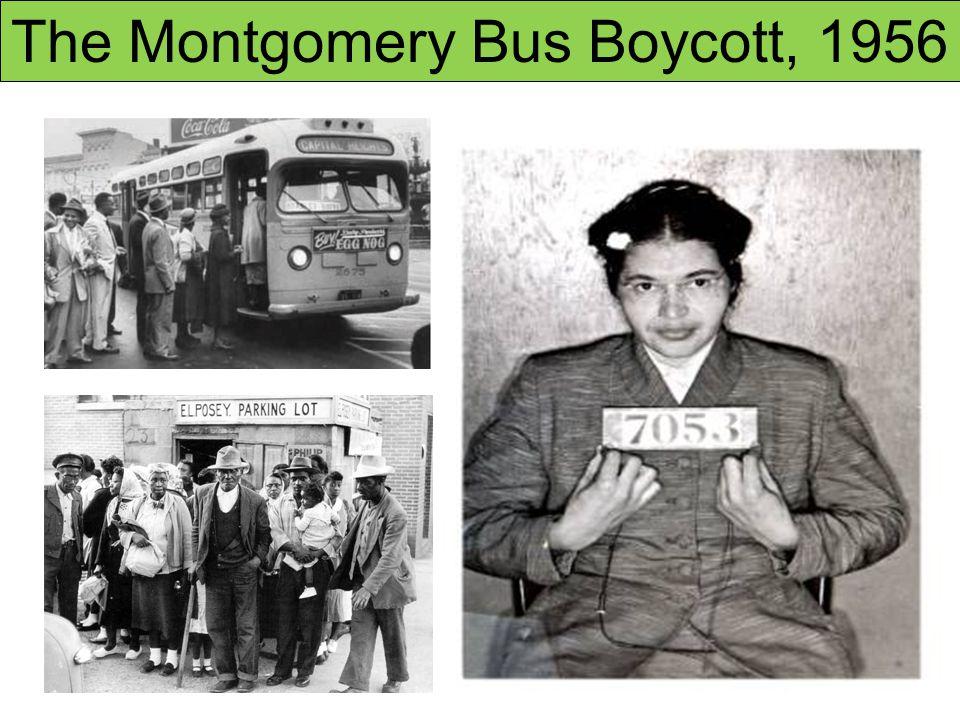 The Montgomery Bus Boycott, 1956