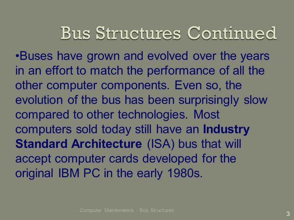 Computer Maintenance - Bus Structures 14