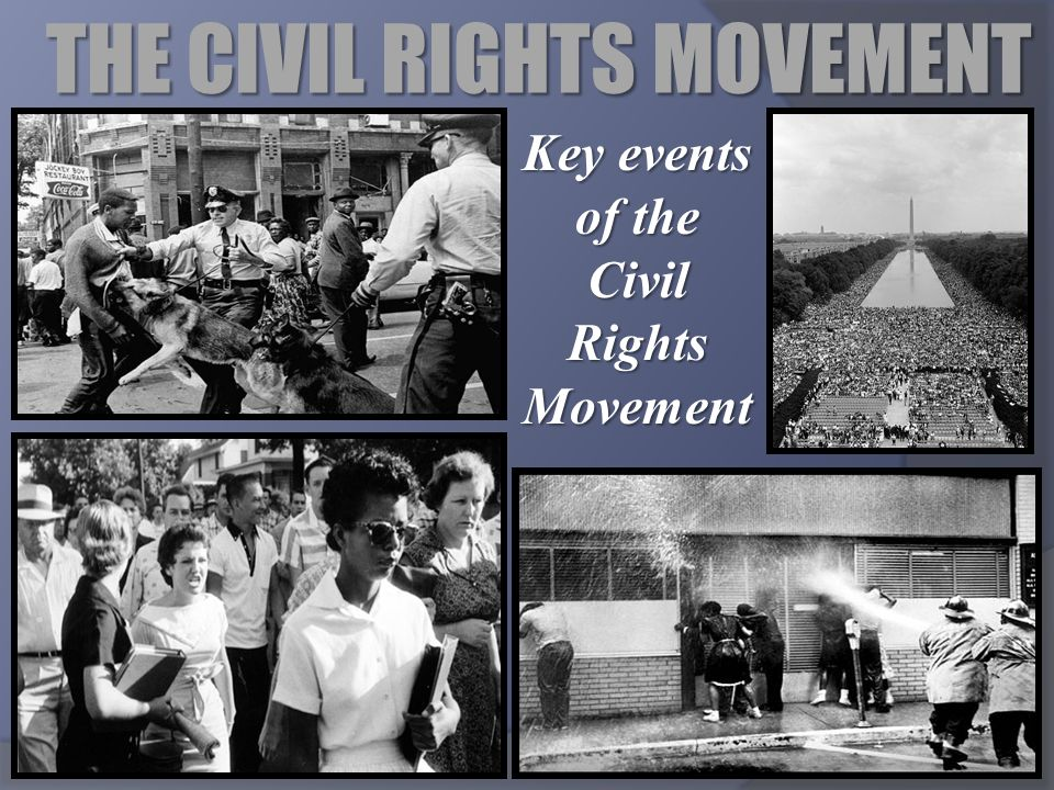 THE CIVIL RIGHTS MOVEMENT Key events of the Civil Rights Movement