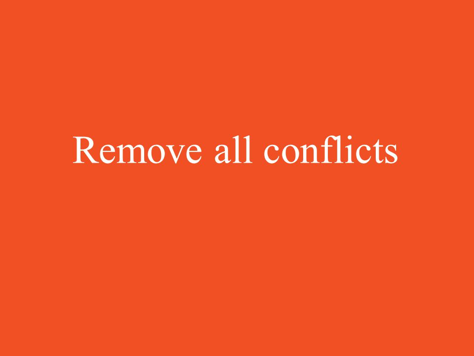 Remove all conflicts