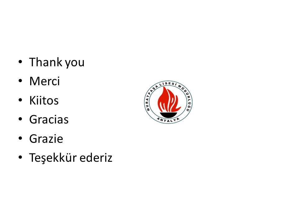 Thank you Merci Kiitos Gracias Grazie Teşekkür ederiz