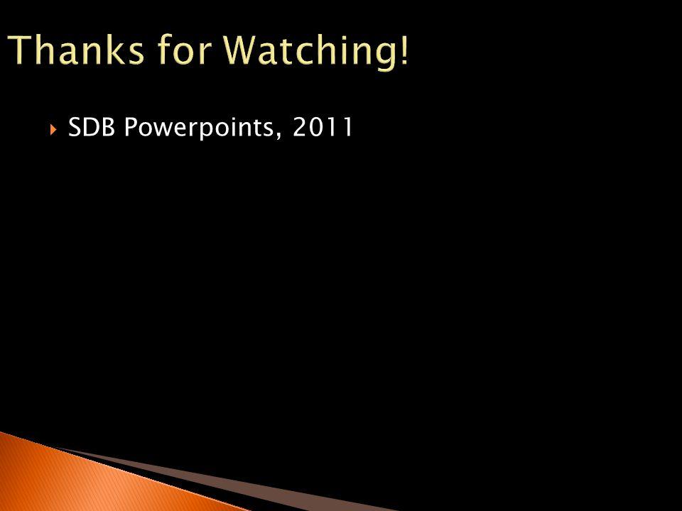 SDB Powerpoints, 2011