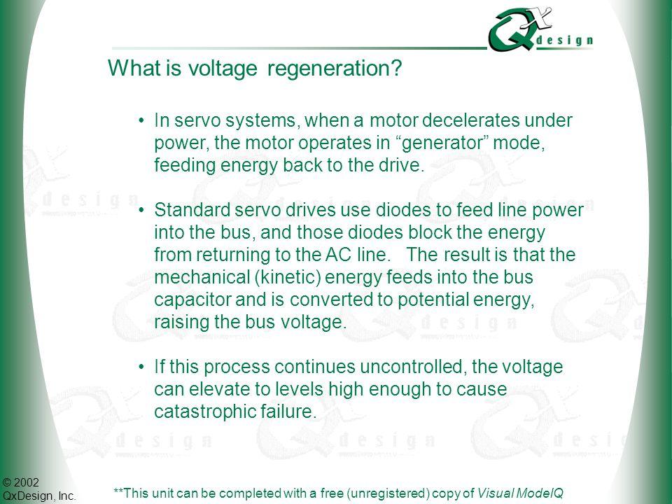 © 2002 QxDesign, Inc.What is voltage regeneration (cont.).