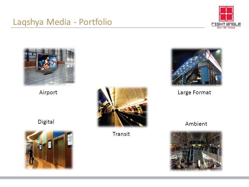 Laqshya Media - Portfolio Airport Transit Ambient Digital Large Format