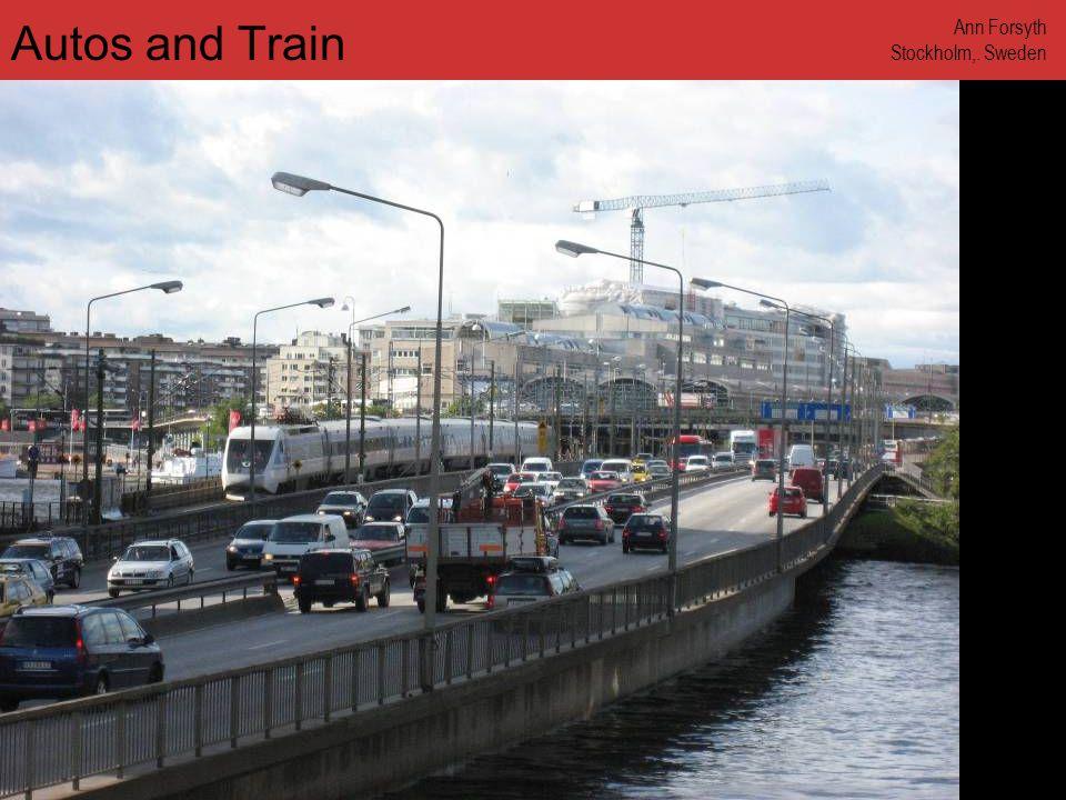 www.annforsyth.net Autos and Train Ann Forsyth Stockholm,. Sweden