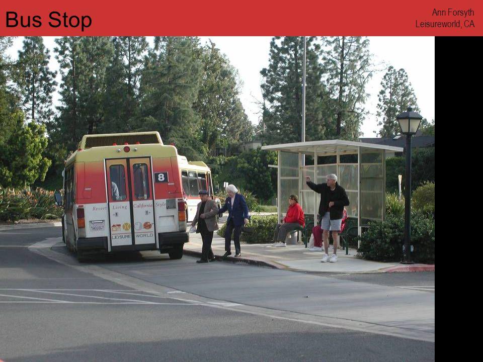 www.annforsyth.net Bus Stop Ann Forsyth Leisureworld, CA