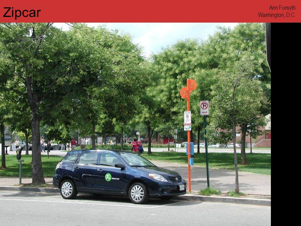 www.annforsyth.net Zipcar Ann Forsyth Washington, D.C.