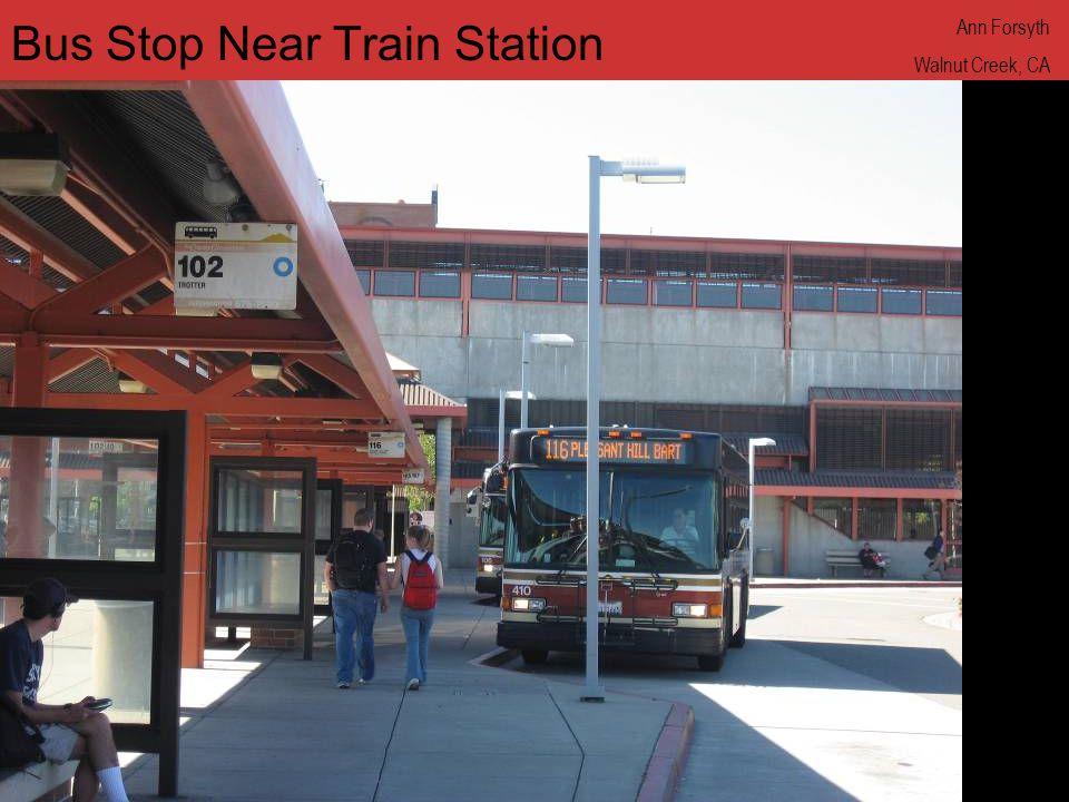www.annforsyth.net Bus Stop Near Train Station Ann Forsyth Walnut Creek, CA