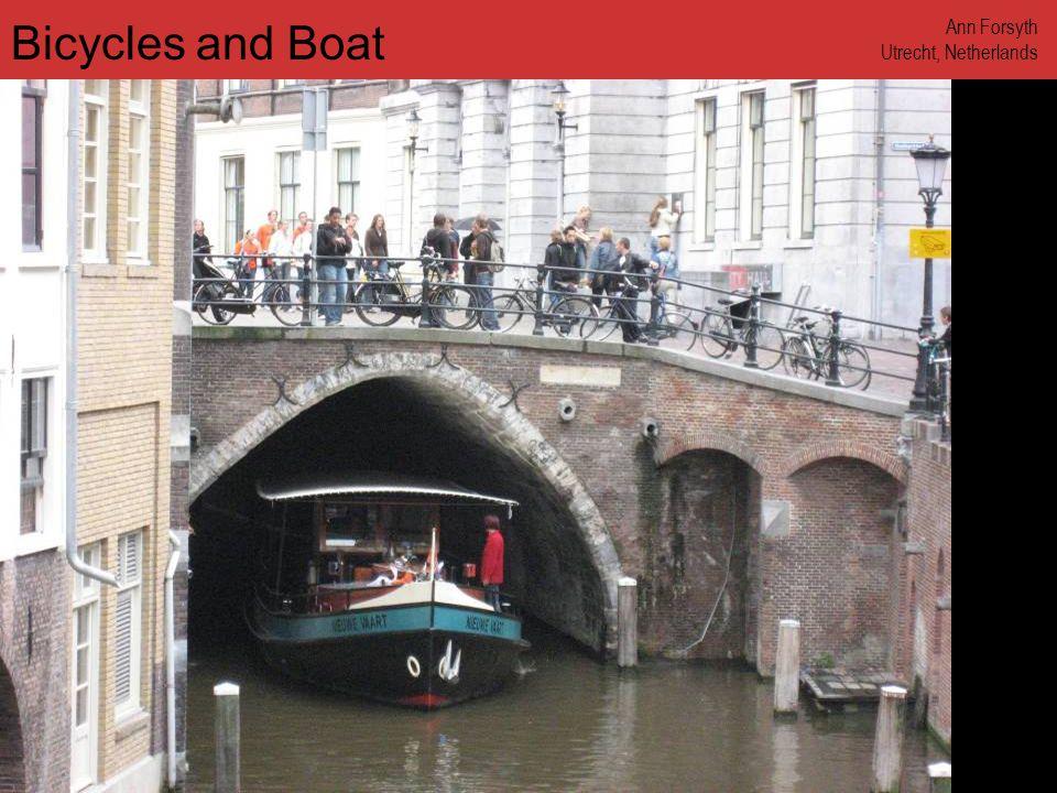 www.annforsyth.net Bicycles and Boat Ann Forsyth Utrecht, Netherlands