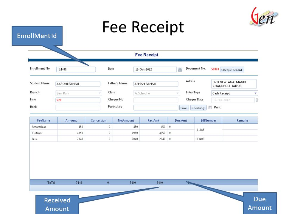 Fee Structure Select to view Fee Structure