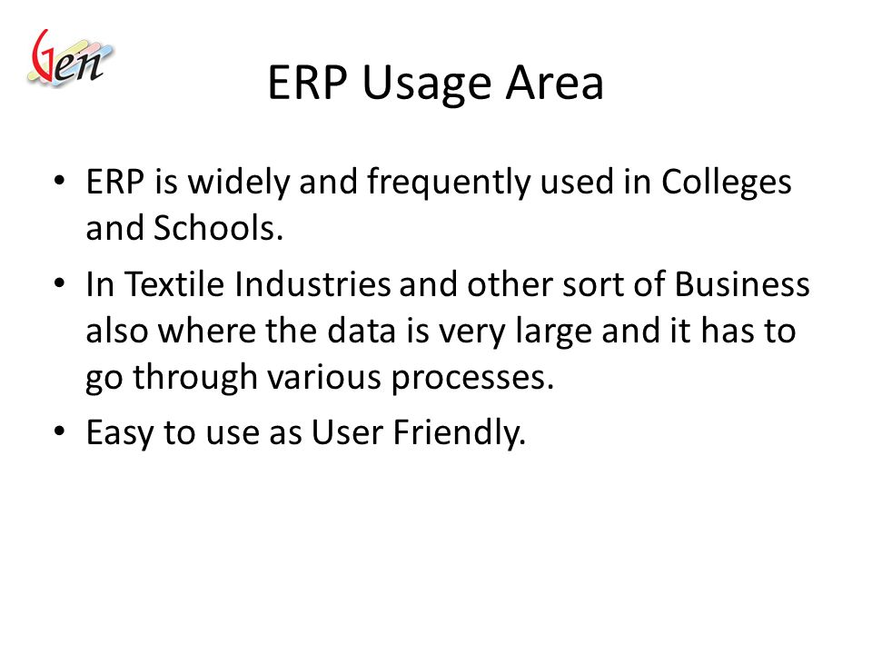 Role Of ERP Keeping all the records at one place.