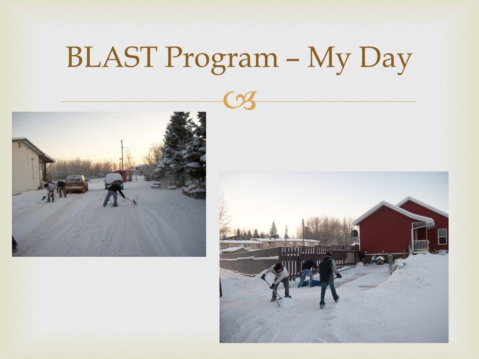 BLAST Program – My Day