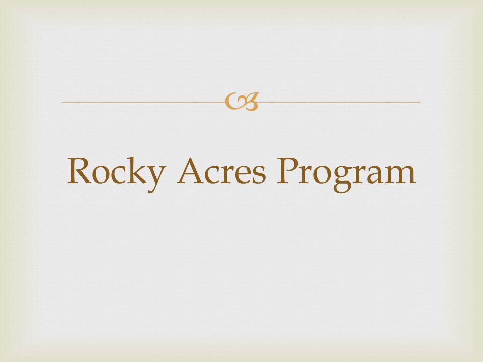 Rocky Acres Program