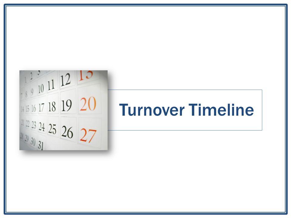 Turnover Timeline