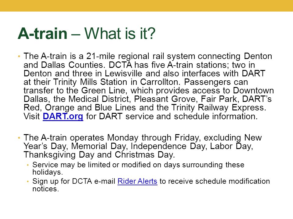 A-train – How to Ride Plan your trip.