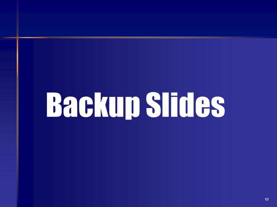 17 Backup Slides