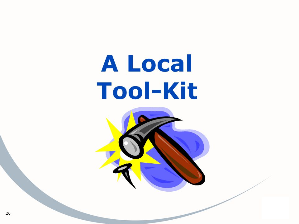 26 A Local Tool-Kit