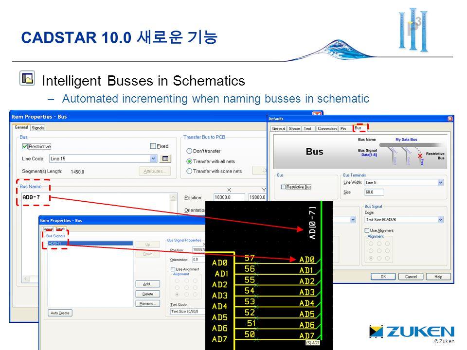 © Zuken Intelligent Busses in Schematics –Automated incrementing when naming busses in schematic CADSTAR 10.0