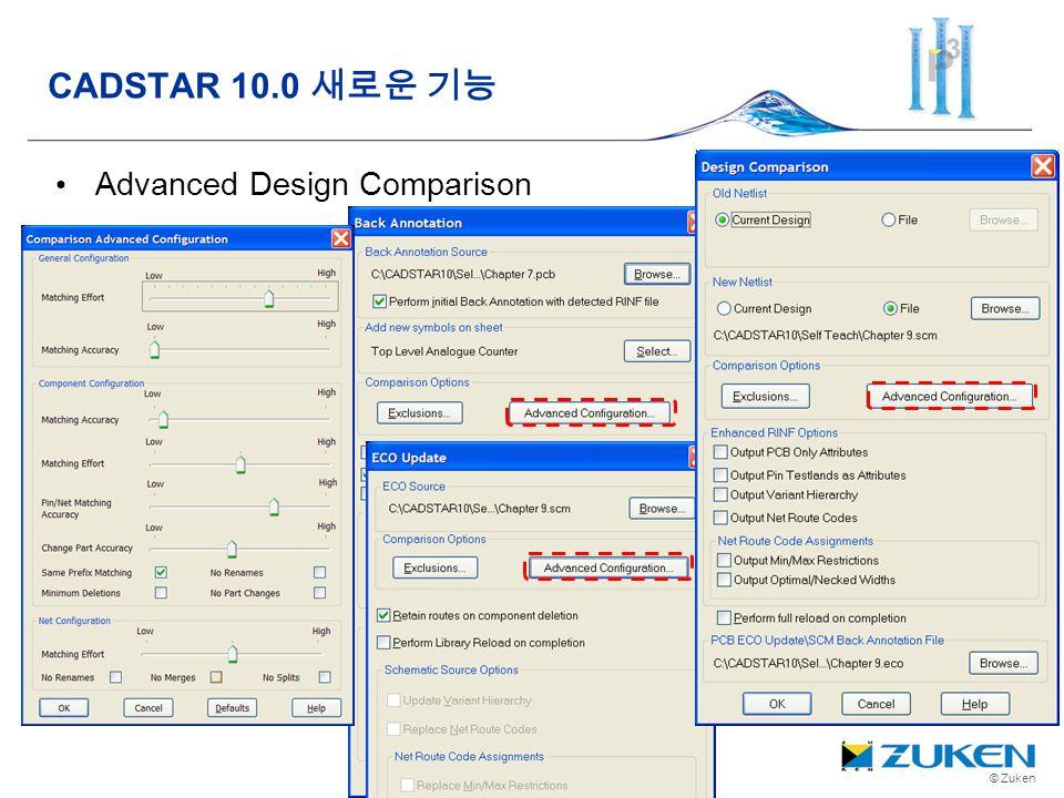 © Zuken Advanced Design Comparison CADSTAR 10.0