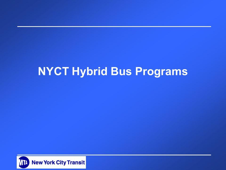NYCT Hybrid Bus Programs