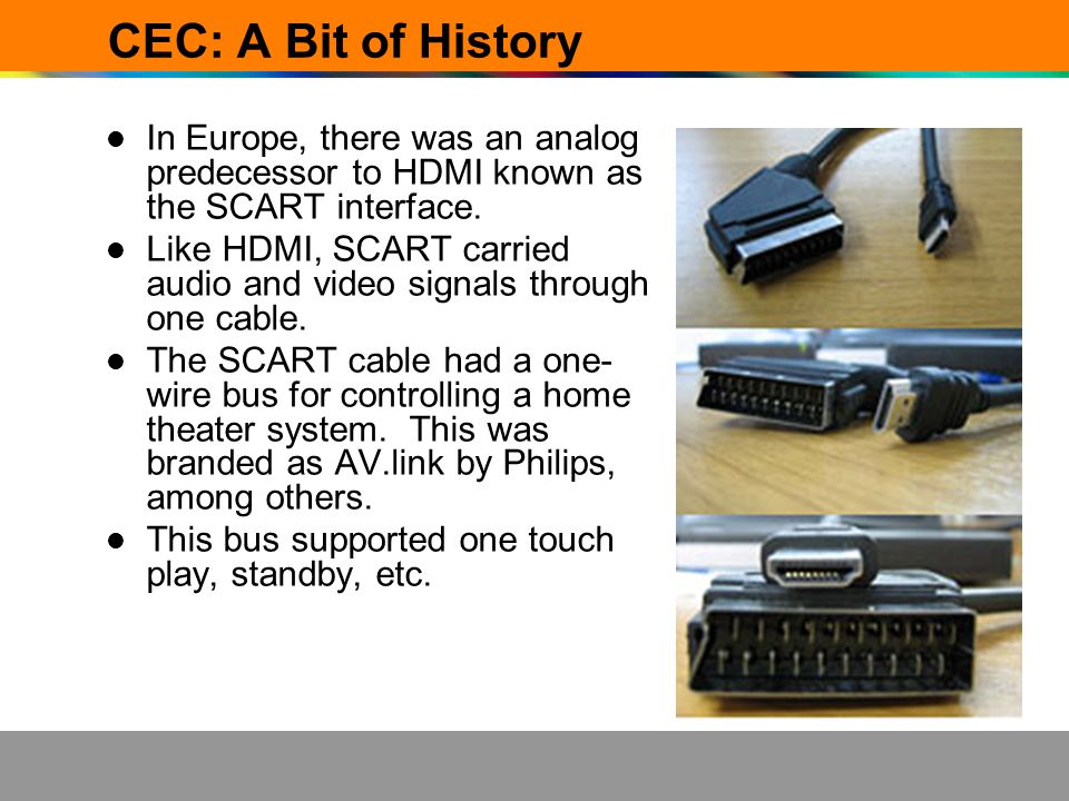 How To Find CEC Devices CEC is available in many HDMI products today.