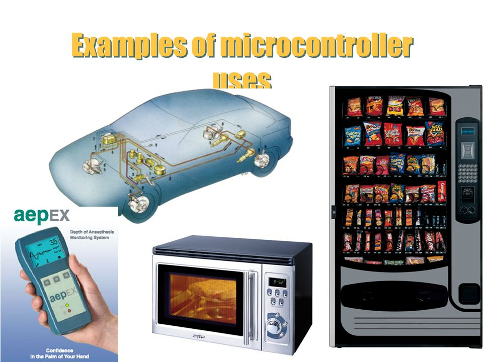 Examples of microcontroller uses