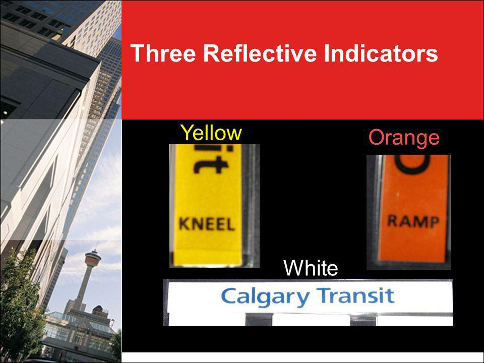 Three Reflective Indicators White Yellow Orange