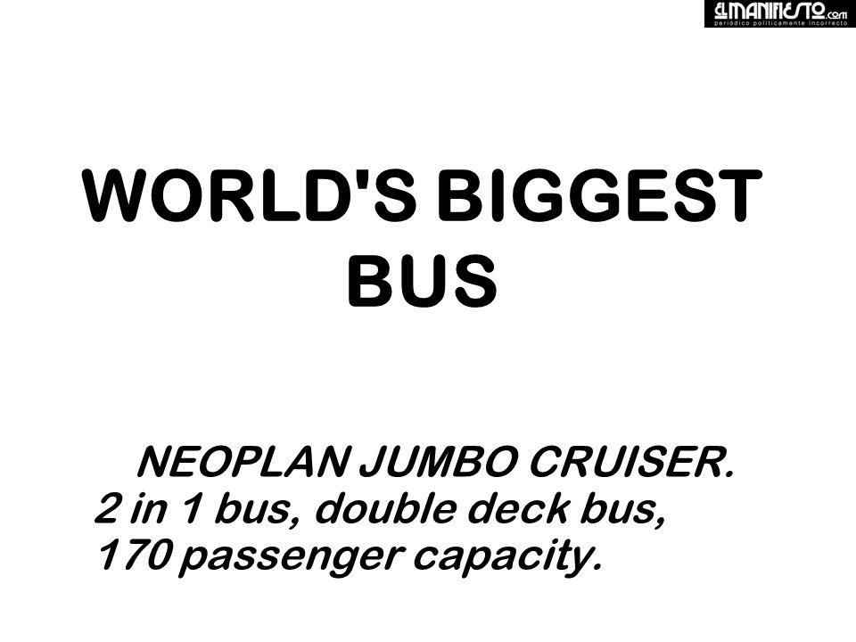 WORLD S BIGGEST BUS NEOPLAN JUMBO CRUISER. 2 in 1 bus, double deck bus, 170 passenger capacity.