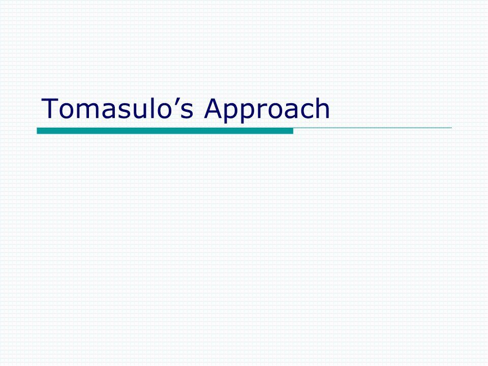 Tomasulos Approach